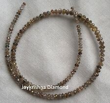 """7.03 ct Natural Brown Polished Faceted Loose Diamond Beads 7"""" half strand"""