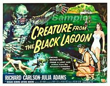 VINTAGE CREATURE FROM THE BLACK LAGOON MOVIE POSTER A3 PRINT
