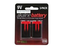 Monoprice Alkaline 9V Battery 2-Pack