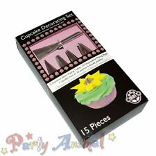 JEM Cupcake Decorating Set / Kit of 15-Star/Round/Nozzles/Bags/sugarcraft/Icing