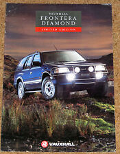 1993 VAUXHALL FRONTERA DIAMOND Sales Brochure - Special Edition Model 2.4i 2.3TD