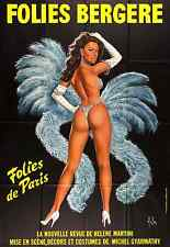 FOLIES BERGERE • French Poster (f) • SHOWGIRLS • Folies Bergère • PARIS • 1980s
