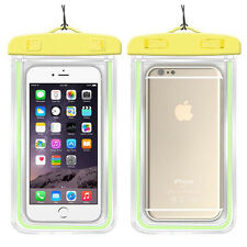Waterproof Underwater Luminous Glow Float Pouch Bag Dry Case For iPhone Samsung