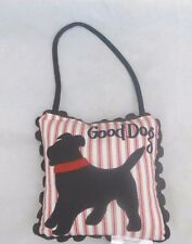 "Ashford Court ""Good Dog"" ""Bad Dog"" Door Hanger Pillow New"