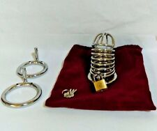 """Stainless Steel Chastity Devices (1.5""""+1.75""""+2"""" 3 Size Rings)"""
