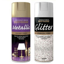 Elegant Gold & Silver Glitter Top Coat Spray Paint for Christmas Decorations