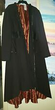 4x 24/26 Disney Alice Through Looking Glass Red Queen trench Coat Goth Hot Topic
