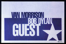 BOB DYLAN REPRO 1998 VAN MORRISON TOUR CONCERT BACKSTAGE PASS STICKER NOT CD DVD