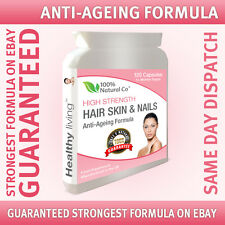 Hair Skin & Nails Capsules, Collagen and Vitamin A, C, E and Zinc Proven Formula
