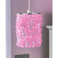 New Childrens Bedroom Pendant Light Shade Fitting Butterfly Chandelier Pink