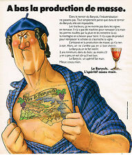 "PUBLICITE ADVERTISING 015  1976  BANYULS  vins "" A BAS LA PRODUCTION"""