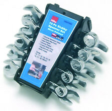 10 Pc Confined Space Stubby Combination Spanner Set 10 - 19mm Short HILKA