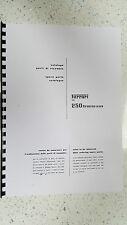 Ferrari 250 Gran Turismo Partes Catálogo Manual reimpreso Peine atado