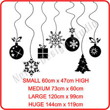 CHRISTMAS WINDOW DECORATION  XMAS BAUBLES STICKERS CRISTMAS WALL STICKERS / S49