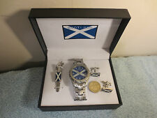 Reduced Scotland flag Rugby Football Wrist Watch Tie Pin and Cufflinks #4