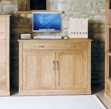 Mobel solid oak home office furniture hideaway study computer desk workstation