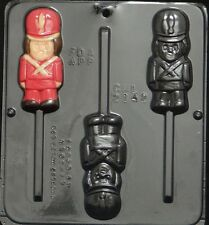 FS NEW Christmas Toy SOLDIER Chocolate Candy Clay Fondant Plaster Lollypop Mold