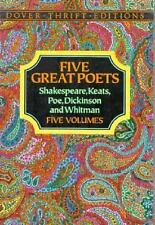 Five Great Poets: Poems by Shakespeare, Keats, Poe, Dickinson and Whitman-Boxed