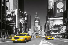 New York Times Square Amarillo Taxi Cartel Tamaño A2