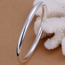 Ladies Sterling Silver Jewellery Thick Solid Bangle Bracelet Valentines Day