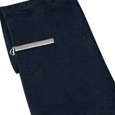 Mens Tie Clip Bar Fibbia Pinza 4 cm in Acciaio Inox Argento