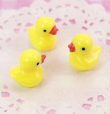 5 x Cute 3D Yellow Duck Duckling Flat Base Cabochons Kawaii Decoden  UK SELLER!