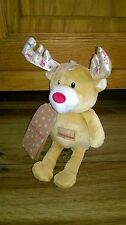 Mothercare First Christmas Reindeer Baby Plush Comforter Soft Toy BNWT