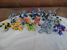 Lot of 19 Transformers Robot Heroes Figures HASBRO Mini PVC  Cake Toppers