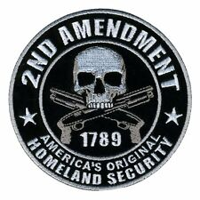 2nd Amendment Homeland Security Patch Iron On Sew On Gun Biker Military Tactical
