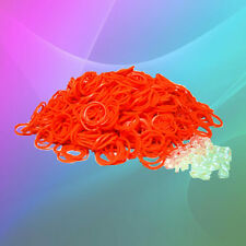 600 PACK ORANGE Loom Refill Rubber Band & S-Clip~All Color of Rainbow Available