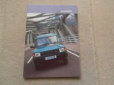 Land Rover Discovery Brochure 1997.XS GS ES 2.5.Tdi. 3.9 V8.   Mint condition