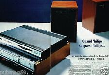 Publicité advertising 1968 (2 pages) Ampli Tuner Hi-Fi Philips