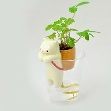 Magic Home Office Garden Self Watering Cute Animal Pot With Straw Flowerpot