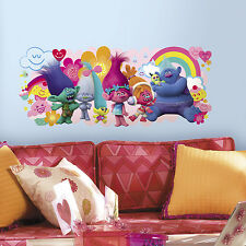 New TROLLS MOVIE GIANT GRAPHIC WALL DECALS Kids Room Stickers Bedroom Decor
