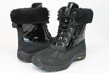 Ugg Australia Womens Adirondack Quilted Winter Snow Black Color Boot Size 9 US