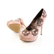 IRON FIST SUGAR HICCUP PLATFORM STILETTO PUMPS Blush Pink Skulls Sz 7 NEW Pinup