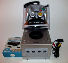 Platinum Nintendo GameCube Console Bundle System New Silver Controller & Hookups