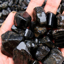 50g Natural Black Crystal Rough Stone Rock Tourmaline Mineral Specimen Healing