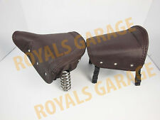 vintage style front rear brown spring seat royal bikes electra customised bsa