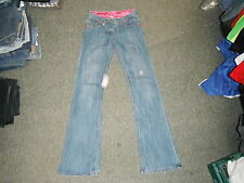 "NUUK Bootcut Size 8 Leg 33"" Faded Medium Blue Ladies Jeans"