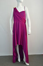 XSCAPE NWT WOMENS PURPLE ASYMMETRICAL BALL GOWN PROM DRESS SZ 14W MSRP $199.00