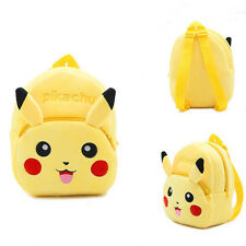 Lovely Kids Bag Pokemon Pikachu Yellow Backpack Mini Shoulders Schoolbag Gift