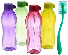 Tupperware Water Bottle 500ml Bottle 4Pc Set with Cleaning Brush