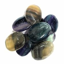 Ten (10) Fluorite Worry Stone Slab - Thumb Stone - Palm Stone