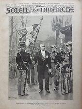 L'ILLUSTRE DU SOLEIL DU DIMANCHE 1895 N 13 A SATHONAY. LE PRESIDENT REPUBLIQUE