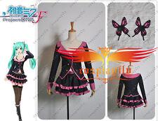 Vocaloid Hatsune Miku Project DIVA F Sweet Devil  MIKU Cosplay Costume W0211