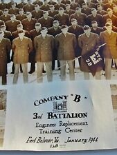 1944 Fort Belvoir, VA: WWII Army Engineers Co B, 3rd Battalion: Panoramic Photo