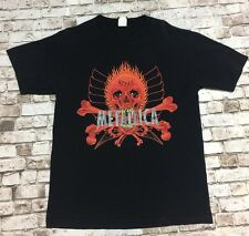 METALLICA Vintage T Shirt 90's TOUR Concert PUSHEAD SKULL Rebel L METAL BAND