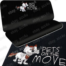 Car Pet Cat Dog Black Fabric Water Resistant Backing Rear Seat Protector Cover