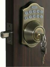 Lockey Keyless Electronic Door Lock Deadbolt AB Touchpad Code Remote CAPABLE